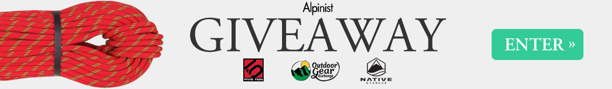 Enter the Alpinist Giveaway