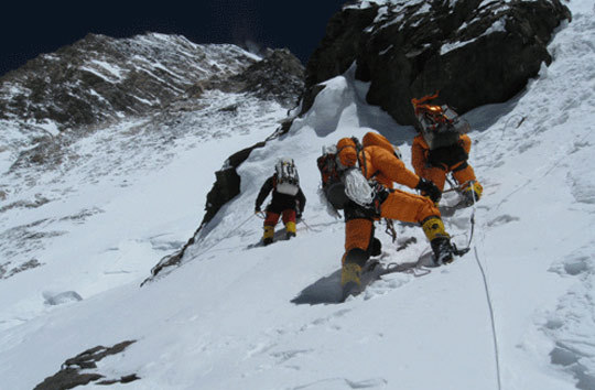 ... missing and feared dead after a serac fall high on the mountain on