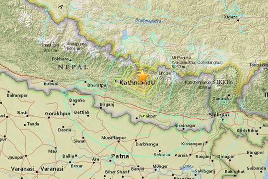 Earthquake In Nepal Alpinistcom - Nepal on map