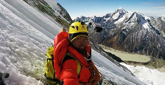 Mingma Gyalje Sherpa took this selfie on an ascent ca. 2015. [Photo] Mingma Gyalje Sherpa