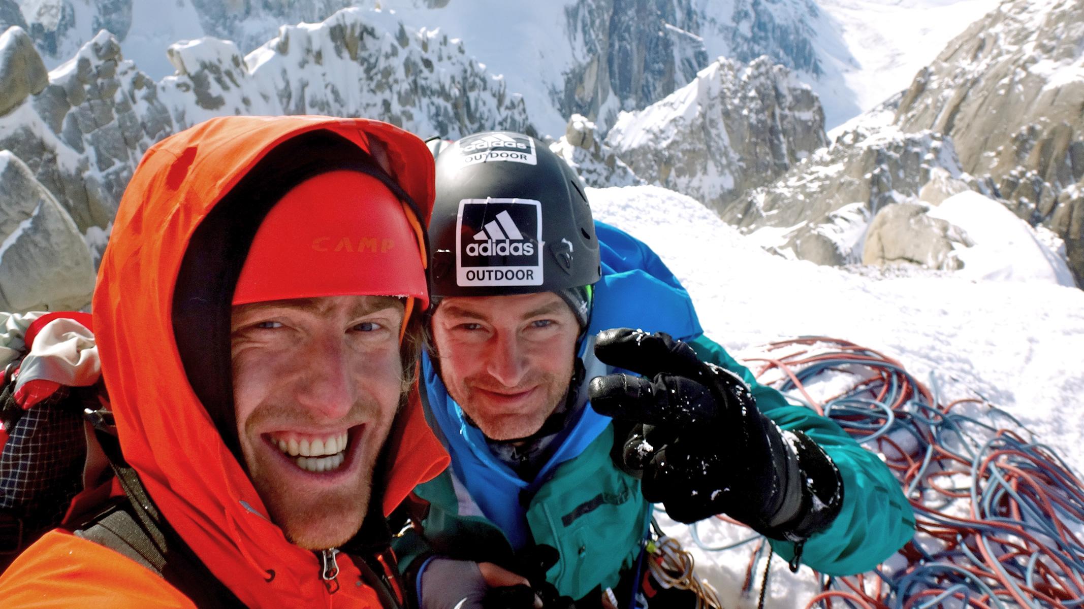 Erdmann and Roskelley on the summit of the Citadel [Photo] Benjamin Erdmann