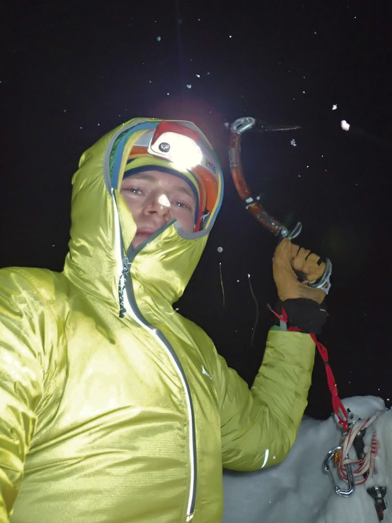 The author topped out on upper North Ridge. [Photo] Ben Dare