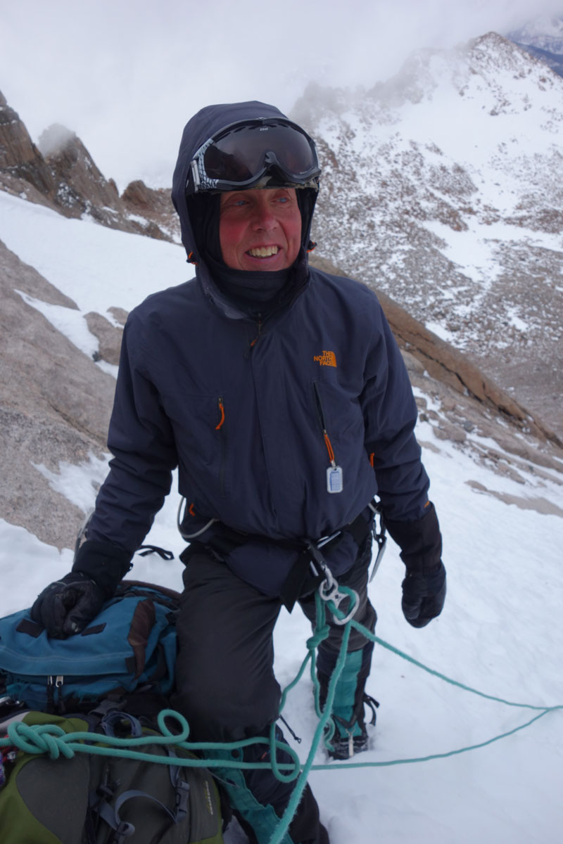 Jim Detterline on the North Face (II M2) of Longs Peak in January 2015. [Photo] Lisa Foster