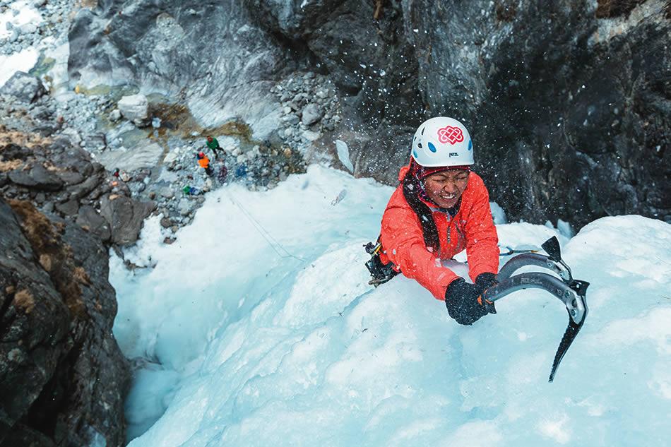 Dawa Yangzum Sherpa, mountain guide. [Photo] John Burcham