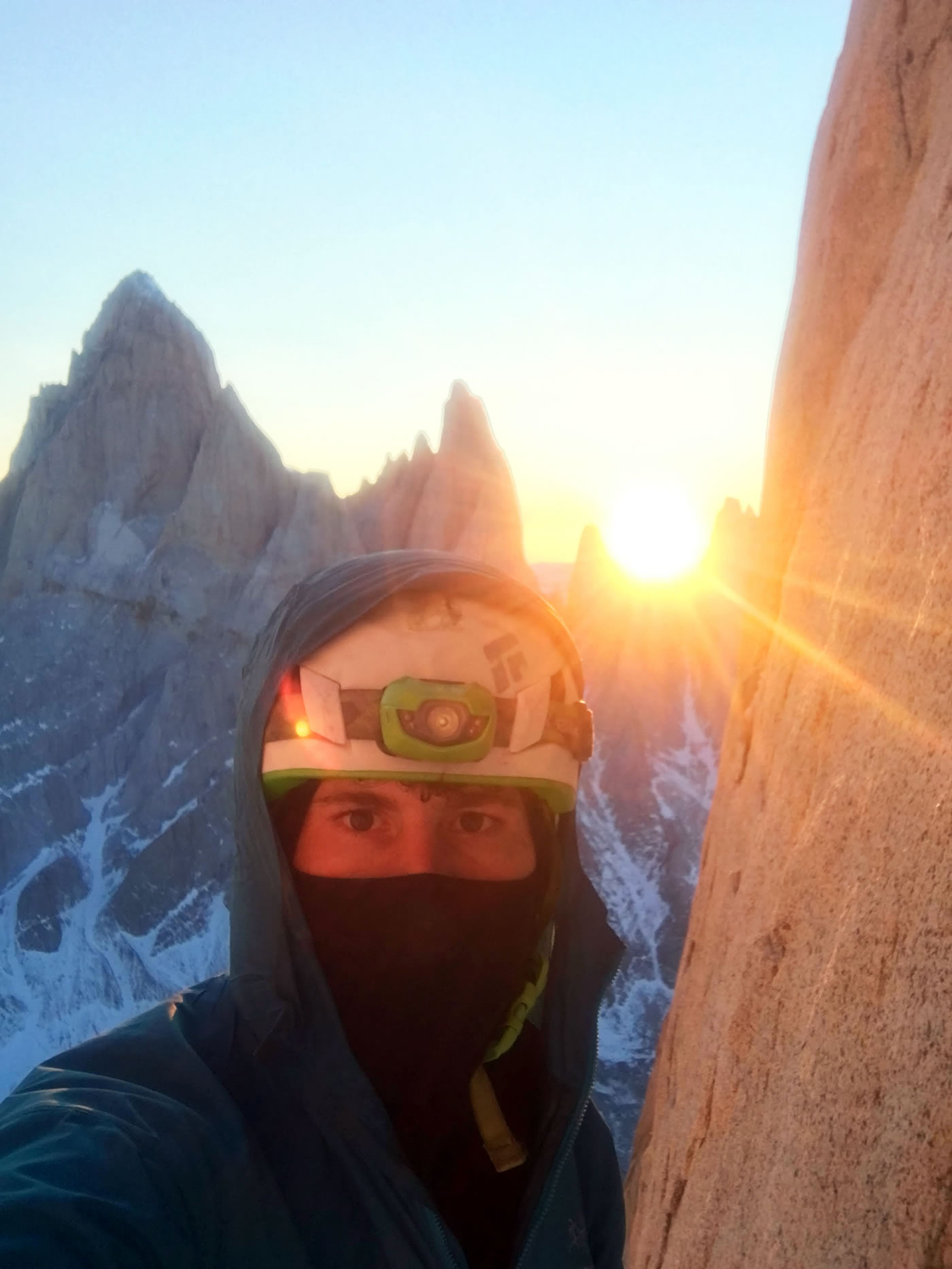Marc-Andre Leclerc solo on Torre Egger in winter. [Photo] Marc-Andre Leclerc