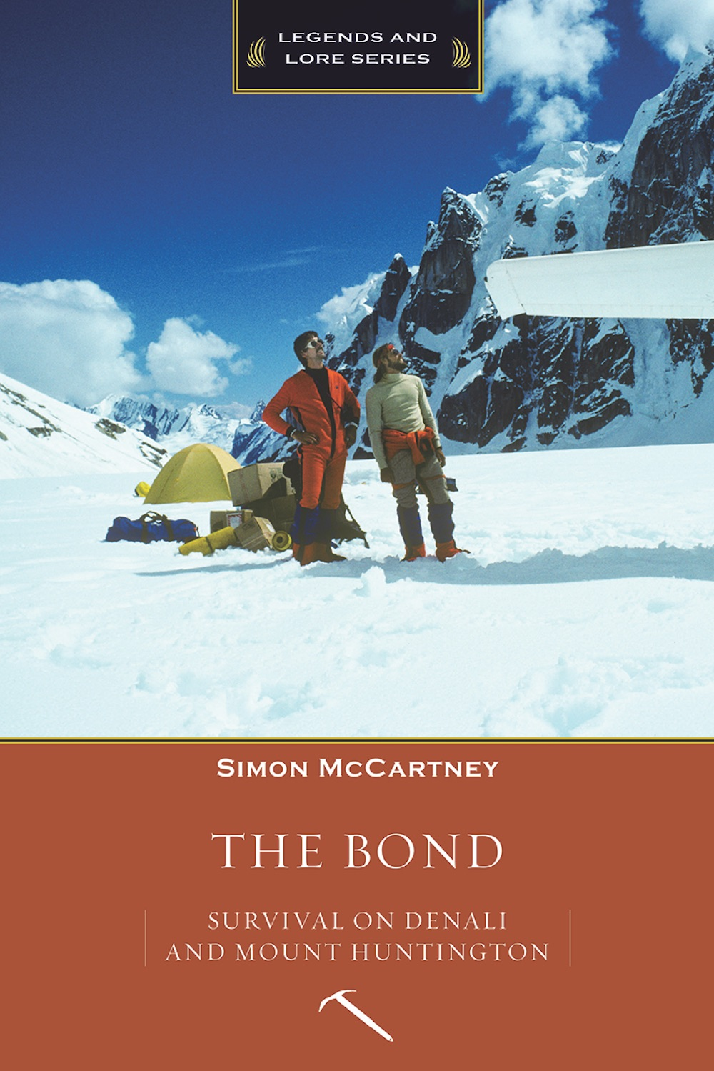 The Bond: Survival of Denali and Mount Huntington, by Simon McCartney. [Photo] Courtesy of Mountaineers Books