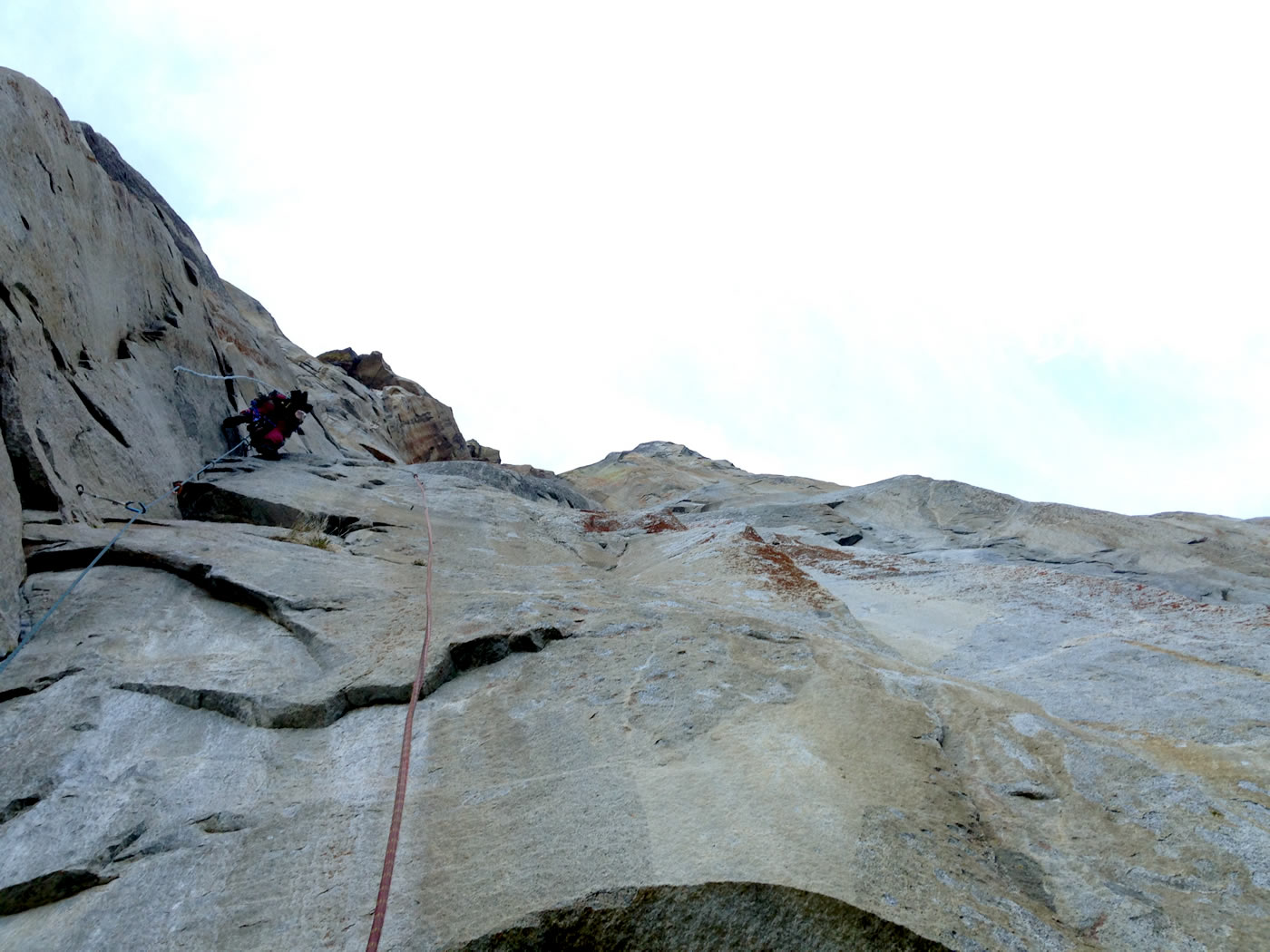 Josie McKee leading the last block to the top of Lost Arrow Spire on Day 2. [Photo] Quinn Brett