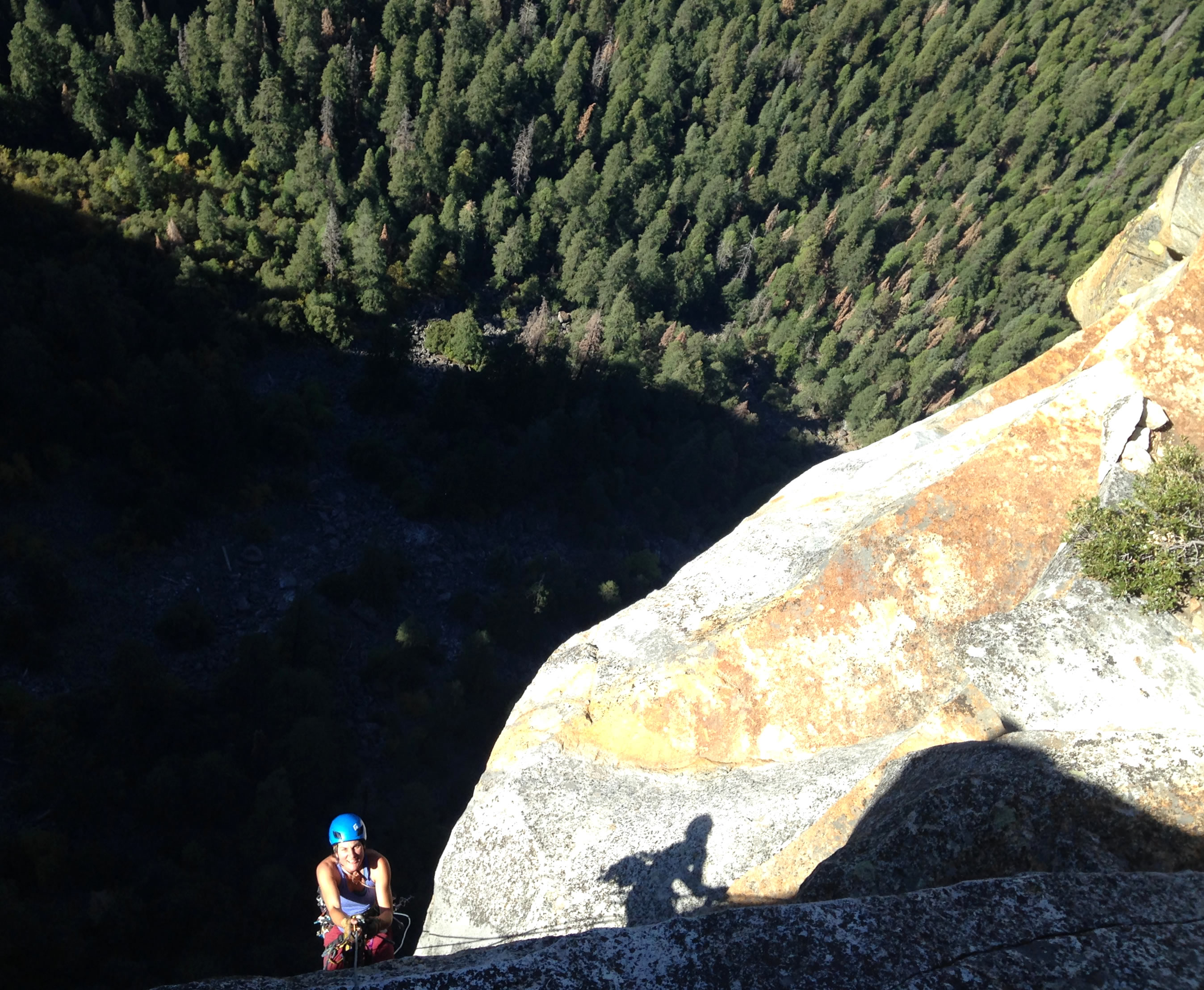 Josie McKee jugs the last pitch on Leaning Tower, Day 3. [Photo] Quinn Brett