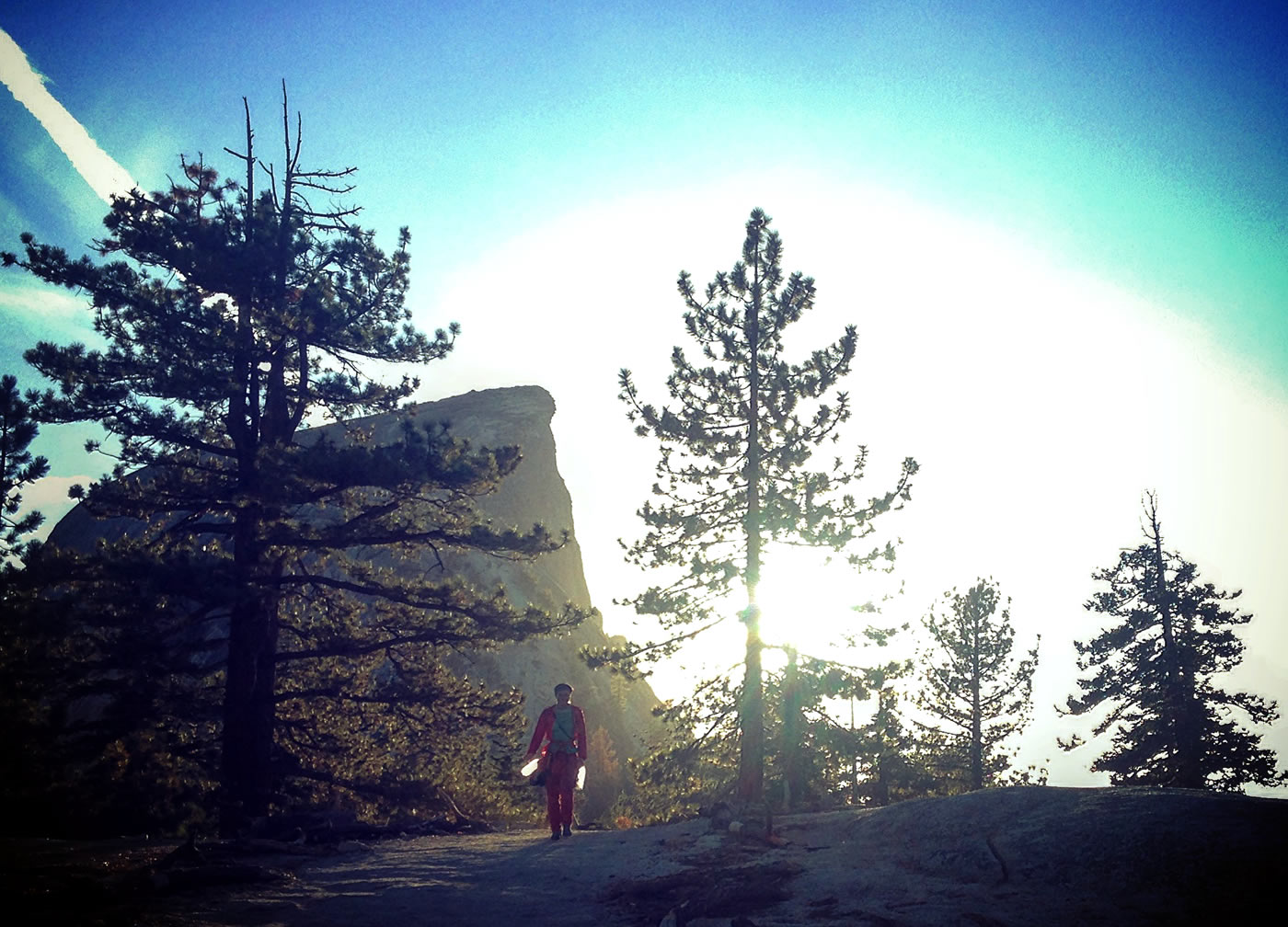 Josie McKee walks off Half Dome on Day 6. [Photo] Quinn Brett
