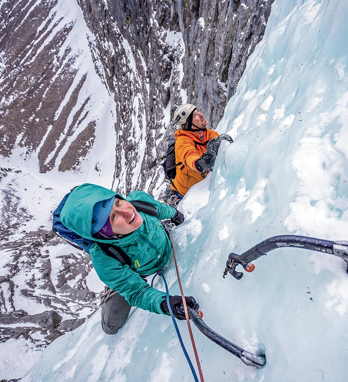 Anna Smith and Ian Greant on The Sorcerer, Alberta. [Photo] John Price