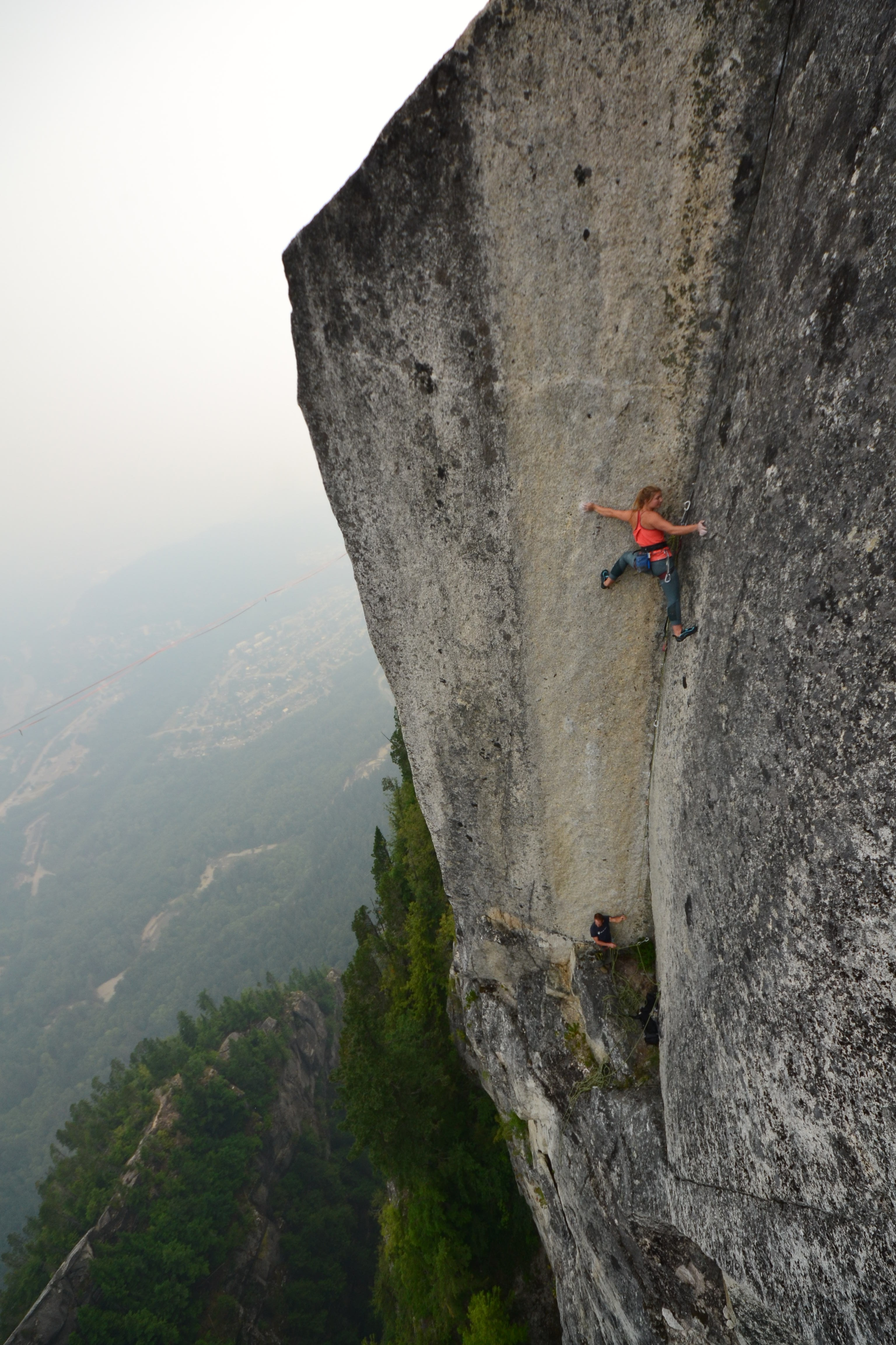 Hazel Findlay leads Tainted Love, aka Northern Soul (5.13d R), in Squamish, British Columbia [Photo] Jonny Baker