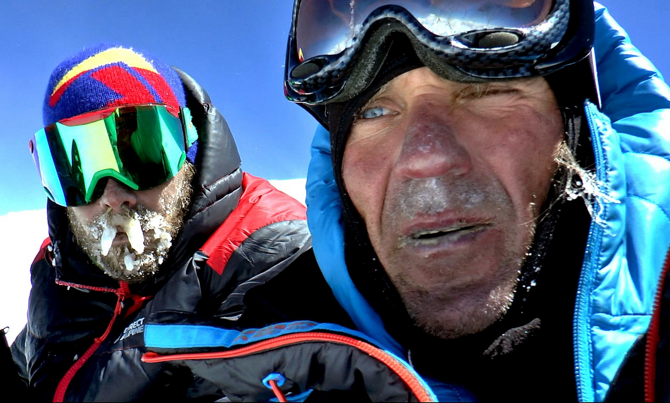 Hak, left, and Holecek, shattered on the summit. [Photo] Marek Holecek