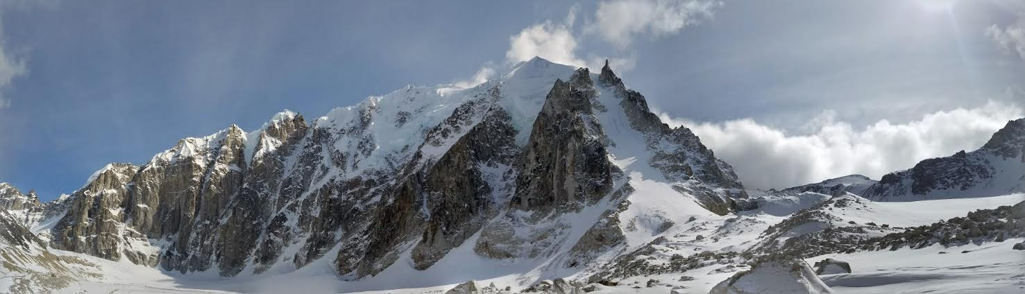 The unclimbed North Face of Jezebel: about 3,800 feet of rock, ice and mixed climbing. [Photo] Rick Vance