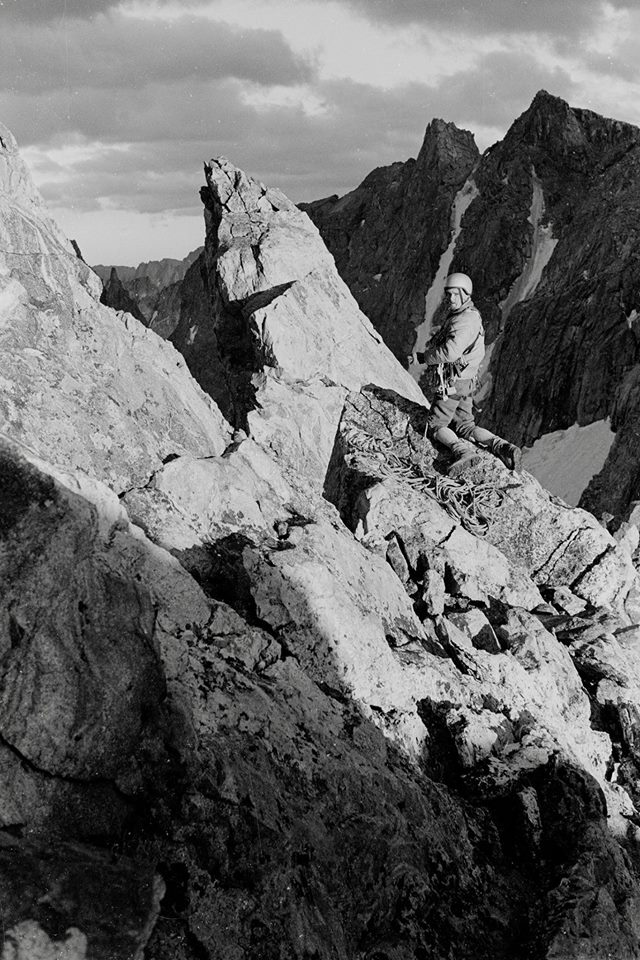Lou Dawson on Cutthroat Spire. [Photo] Michael Kennedy