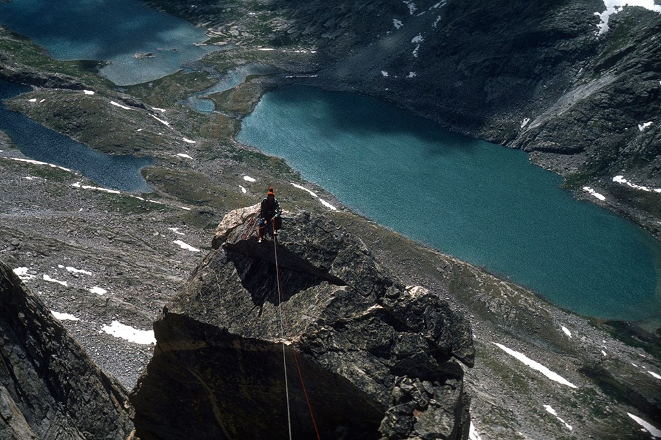 Chris Landry on Fremont Peak in the Titcomb Lakes area in 1976. [Photo] Michael Kennedy