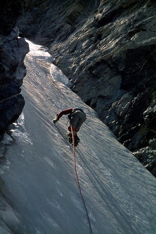 Chris Landry on Bow Mountain in the Titcomb Lakes area in 1976. [Photo] Michael Kennedy
