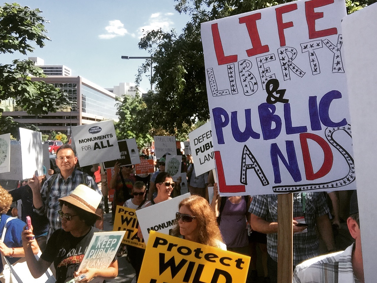 The This Land is Our Land March for Public Lands on July 27. [Photo] Emma Murray