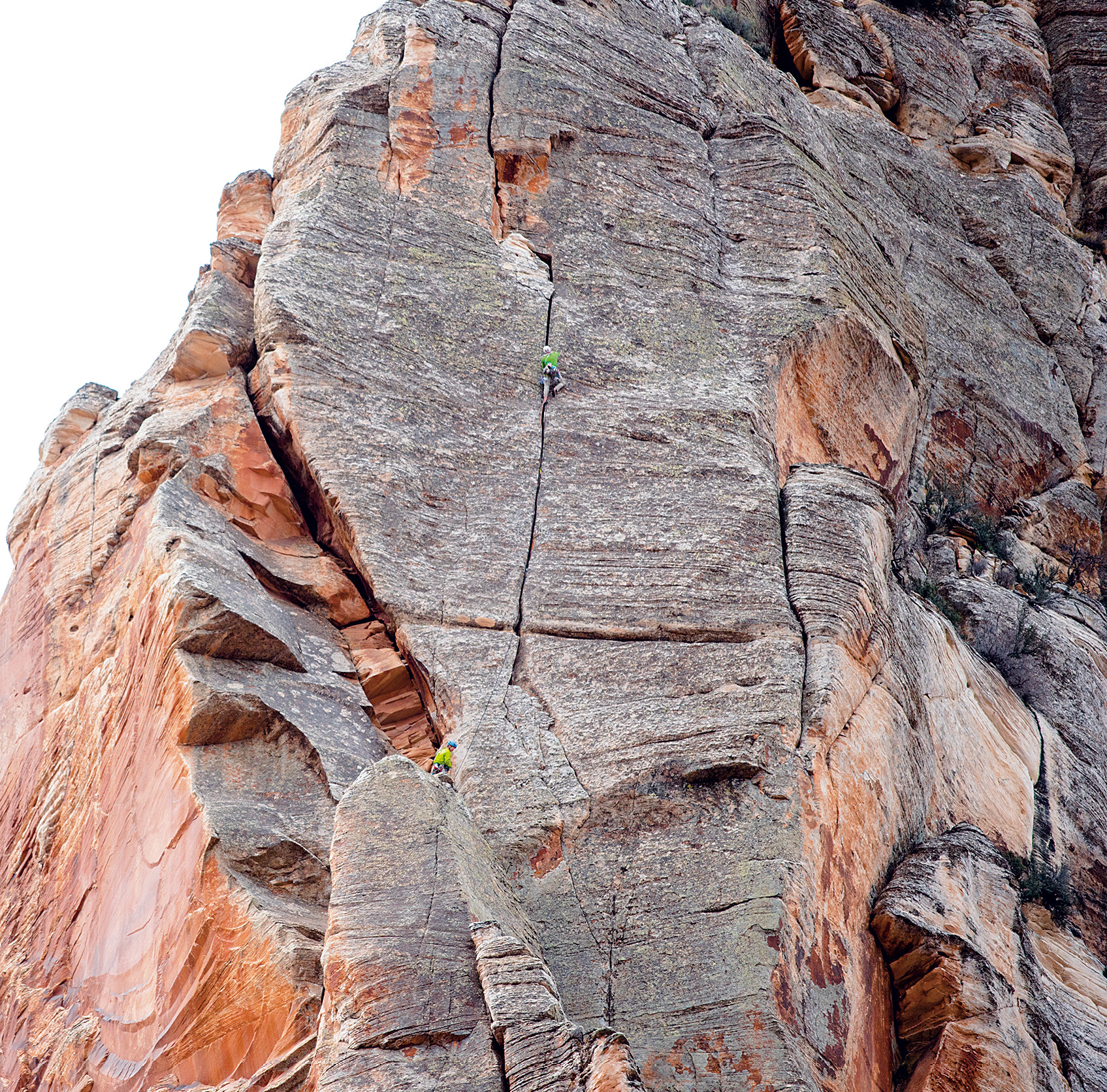 Snyder and Harrison on Screaming Sky Crack, Zoroaster Temple. [Photo] Blake McCord