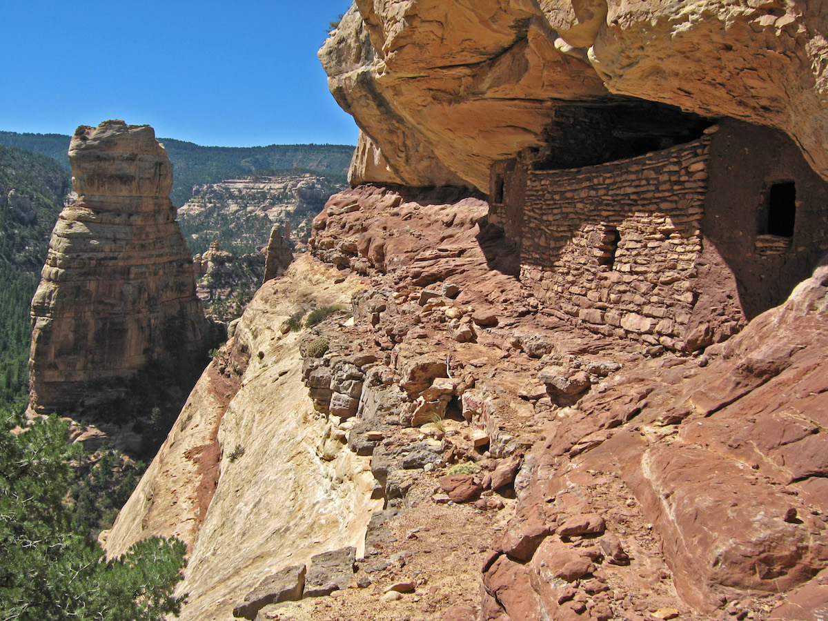 A cliff dwelling on Forest Service land that is no longer included in Bears Ears National Monument [Photo] Courtesy of Bears Ears Inter-Tribal Coalition