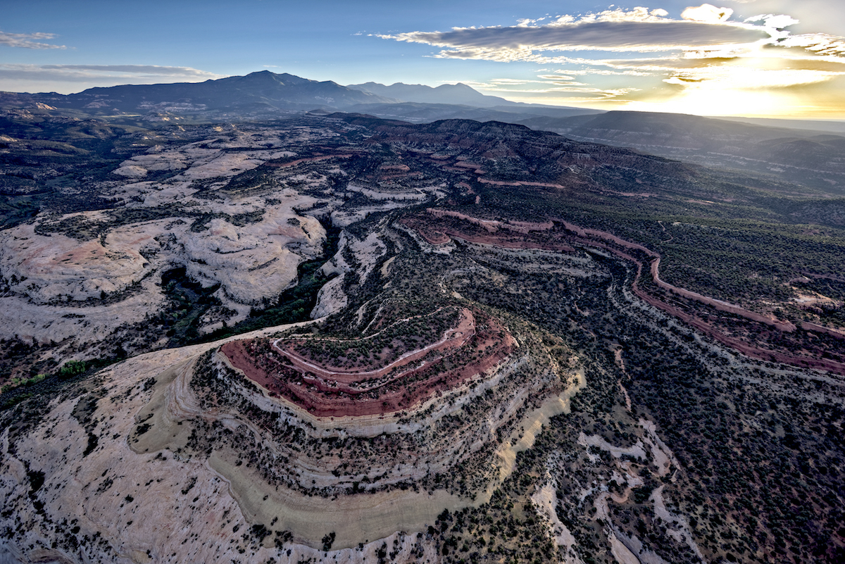 Allen Canyon and the Abajo Mountains—no longer included in Bears Ears Monument. [Photo] Adriel Heisey, courtesy of Bears Ears Inter-Tribal Coalition