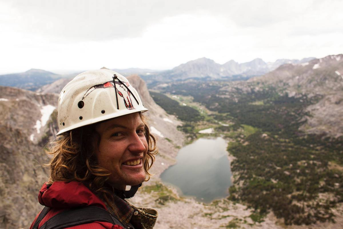 Niels about to dodge some lightning in the Wind River Range, Wyoming. [Photo] Gareth Llewellin