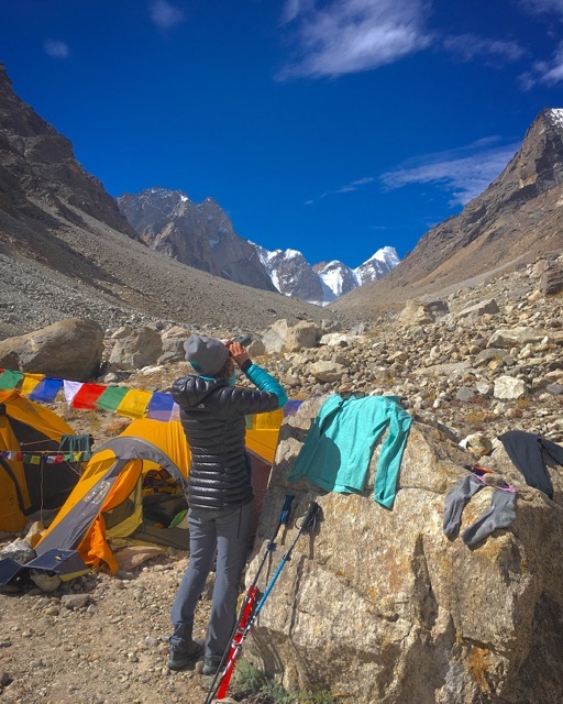 Fixmer at base camp. [Photo] Anna Pfaff
