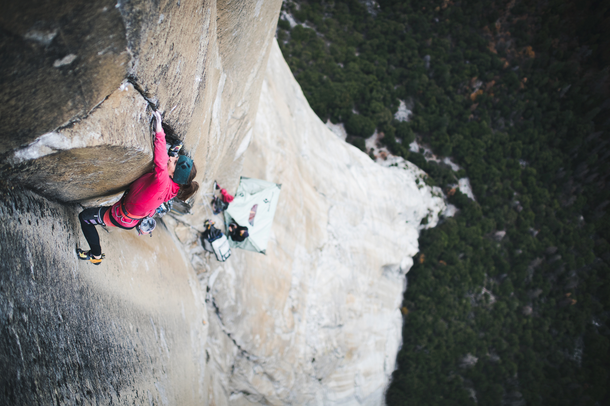 Barbara Zangerl on Pitch 22, Magic Mushroom (5.14a). [Photo] Francois Lebeau