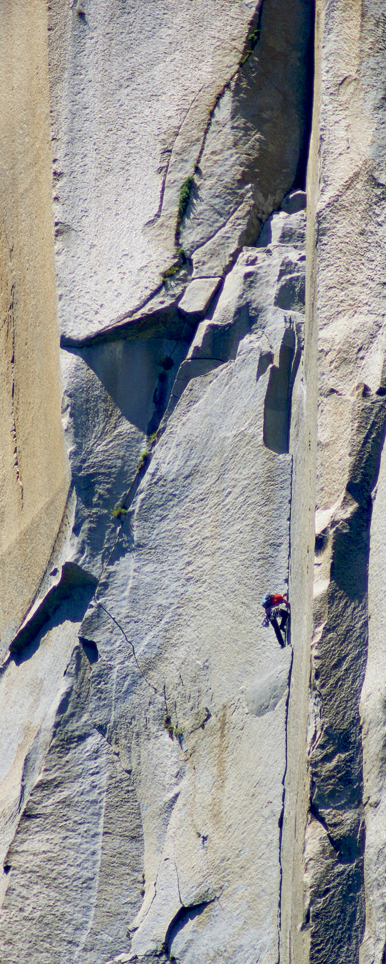 Honnold on The Nose. Both climbers and mainstream journalists were speculating whether Honnold or Dean Potter would free solo El Capitan first. Potter told Outside, The magazines want a race, but this would go beyond athletic achievement. Soloing, he insists, is spiritual. Honnold completed a ropeless ascent of Freerider (5.13a, 3,000') on June 3, 2017. [Photo] Tom Evans