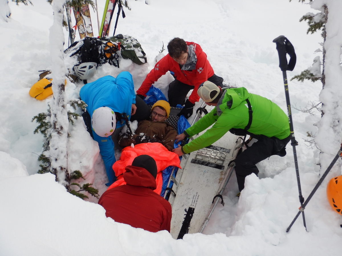 SMR crew members practice a rescue. [Photo] Bree Loewen Collection