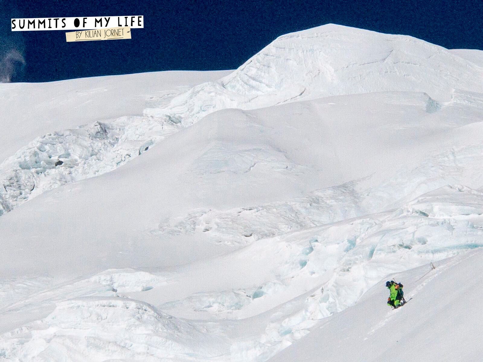 Jornet descends after summiting Everest's North Col route a second time on May 27. [Photo] Sebastien Montaz-Rosset/Kilian Jornet collection