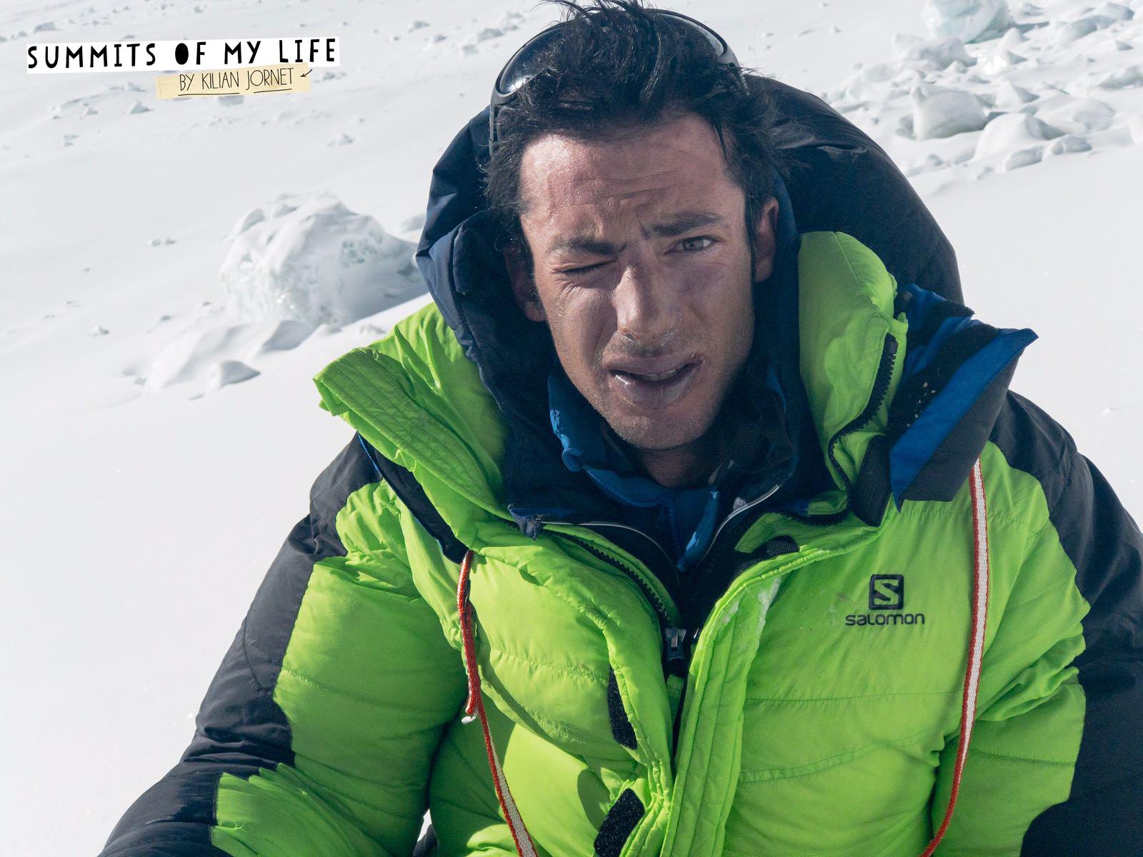 Kilian Jornet during his second speed ascent of Everest's North Col route. [Photo] Sebastien Montaz-Rosset/Kilian Jornet collection