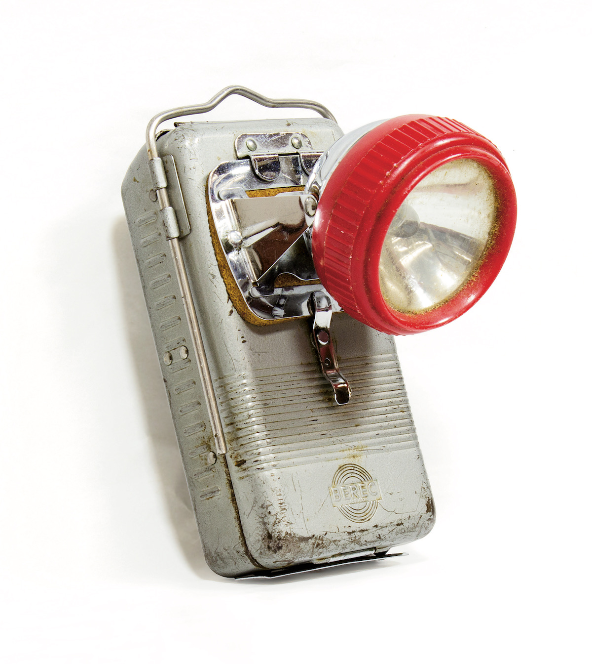 A Berec headlamp used by Martin Mushkin from the mid-1950s until 1980. [Photo] Michelle Hoffman