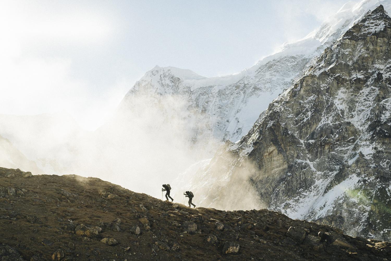 Getting acclimatized near base camp. [Photo] Elias Holzkenecht