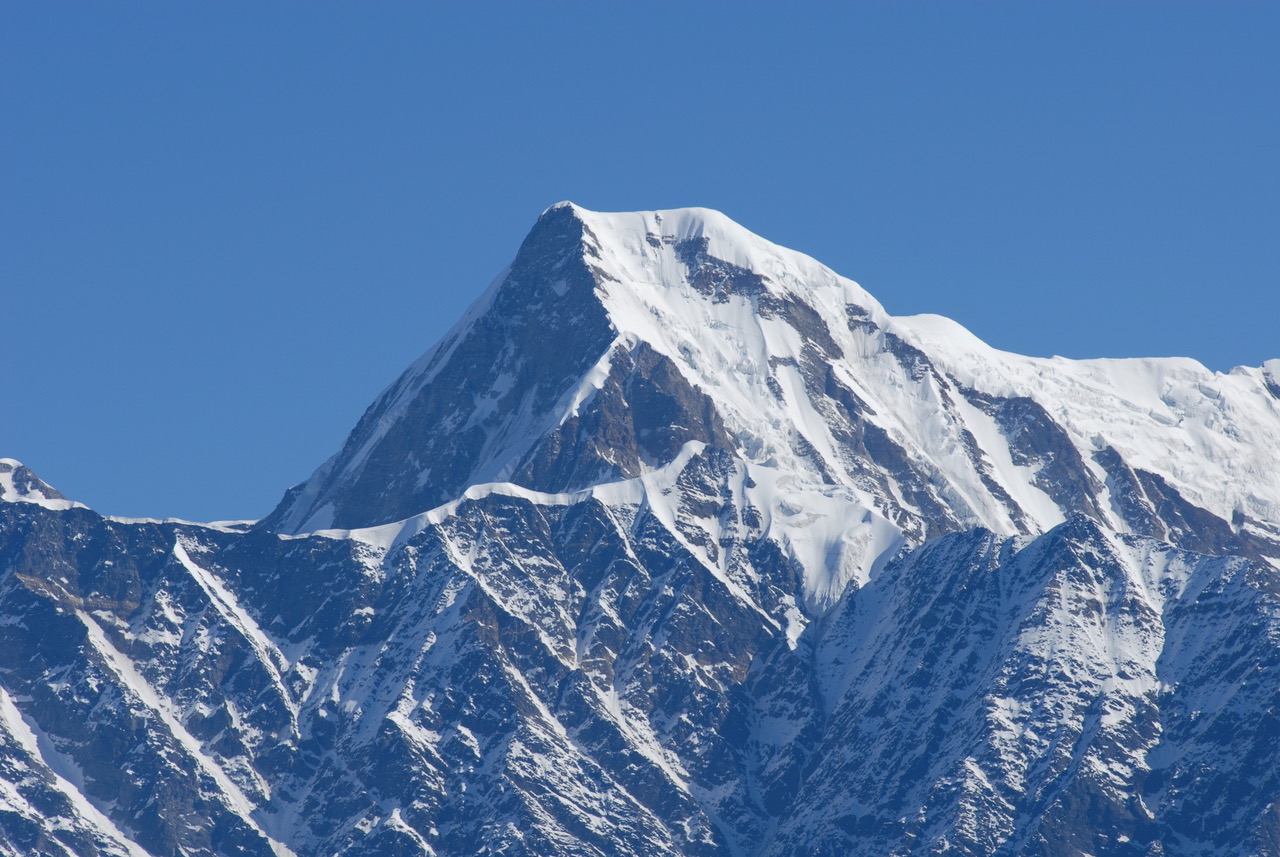 Rudugaira Peak (5819m) is one of the mountains being promoted with lower permit fees this year by the Indian Mountaineering Foundation. [Photo] Courtesy of the Indian Mountaineering Foundation