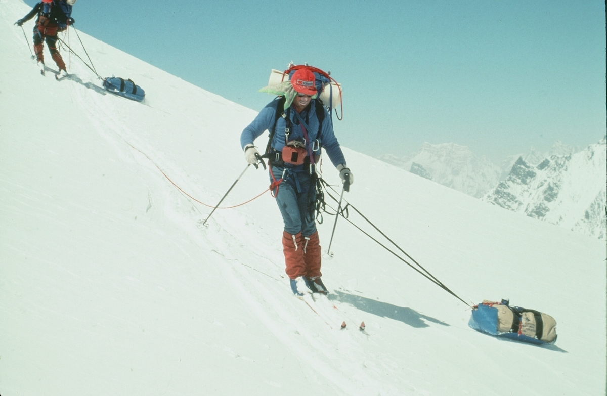 Karakoram Traverse on Nordic skis, 1980. [Photo] Photographer unknown, Kim Schmitz collection