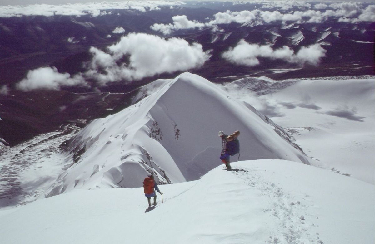 Unknown climbers on an unidentified peak. [Photo] Photographer unknown, Kim Schmitz collection