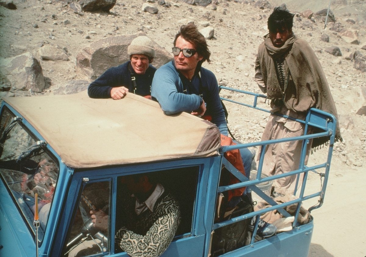 Galen Rowell and Kim in Pakistan. [Photo] Photographer unknown, Kim Schmitz collection