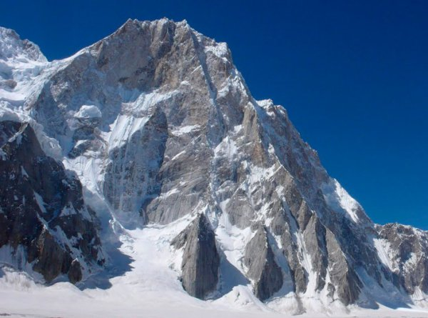 Latok I (7145m). The North Ridge is the prominent line right of center. [Photo] Courtesy of Mountain.RU