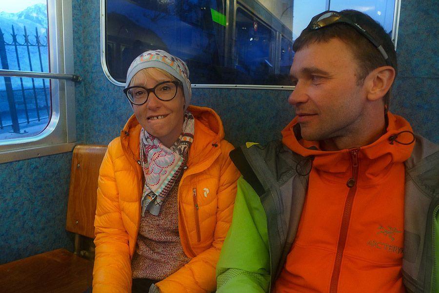 Anna Piunova and Gukov. [Photo] Courtesy of Mountain.RU