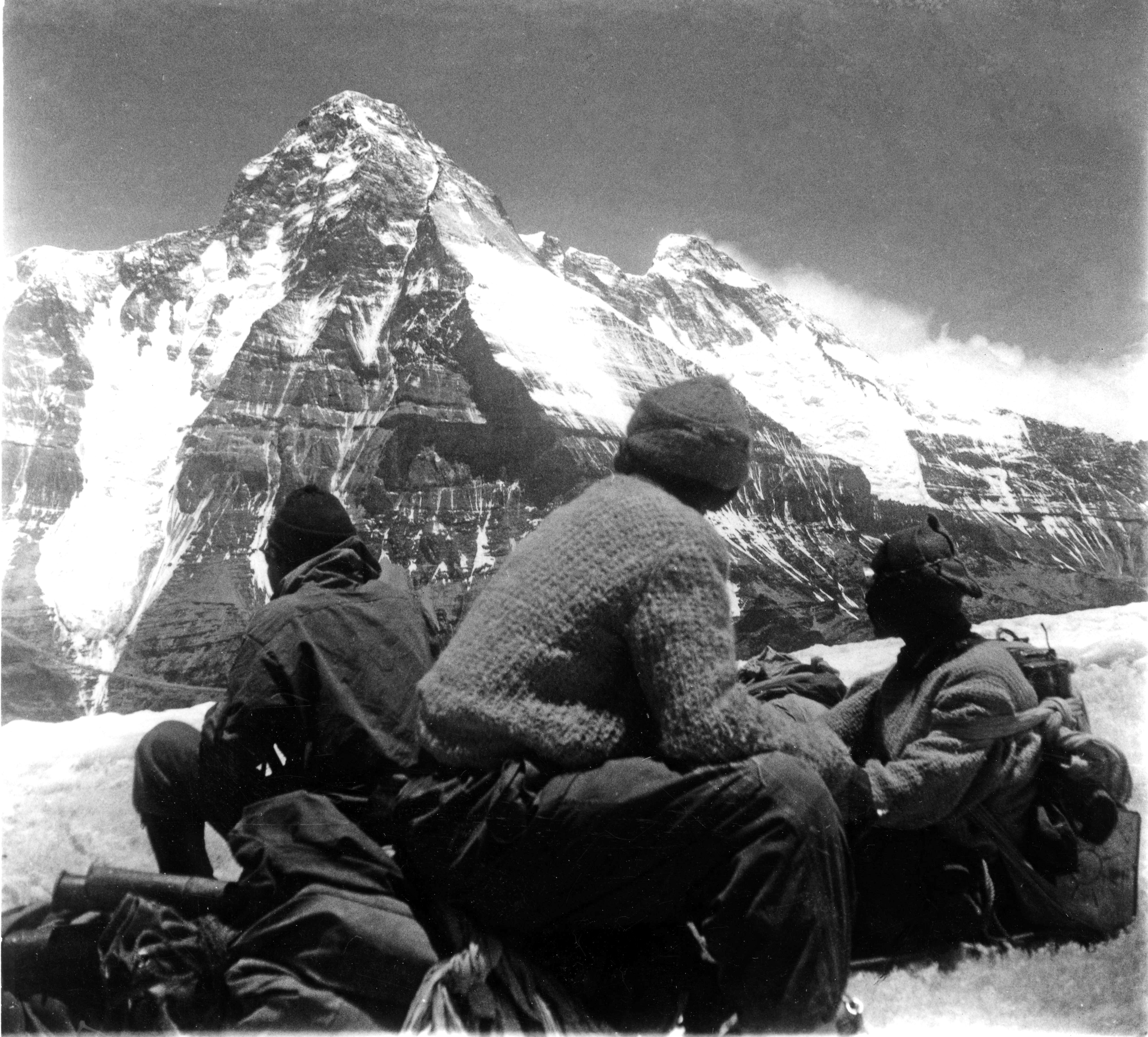 A view of Nanda Devi (7816m) from snow camp on Devistan I (6678m) at about 6100 meters. [Photo] Suman Dubey collection