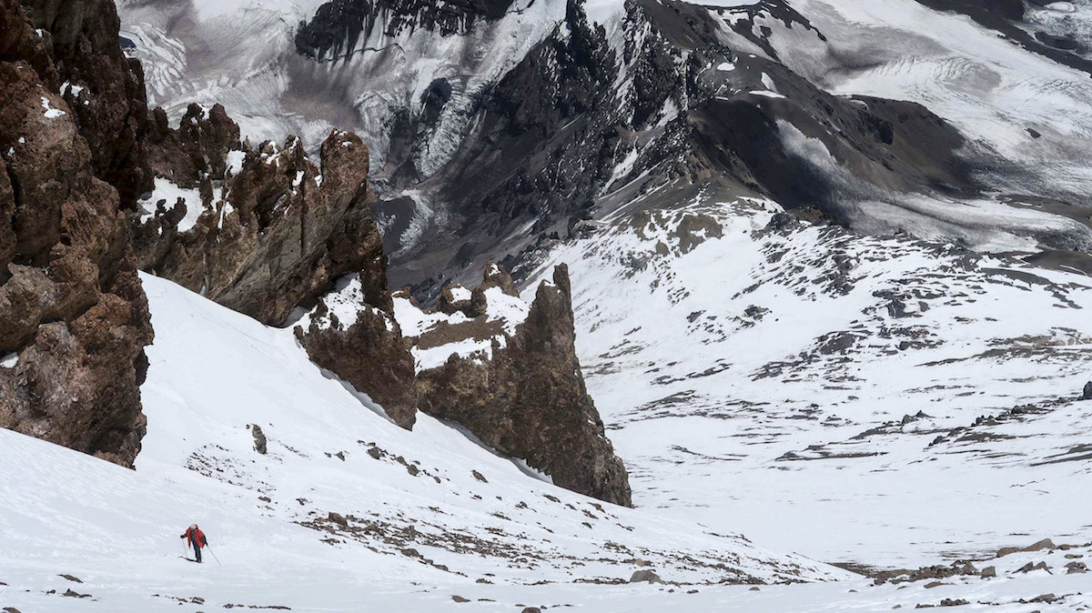 Stroeer high on Aconcagua. [Photo] Julian Kusi