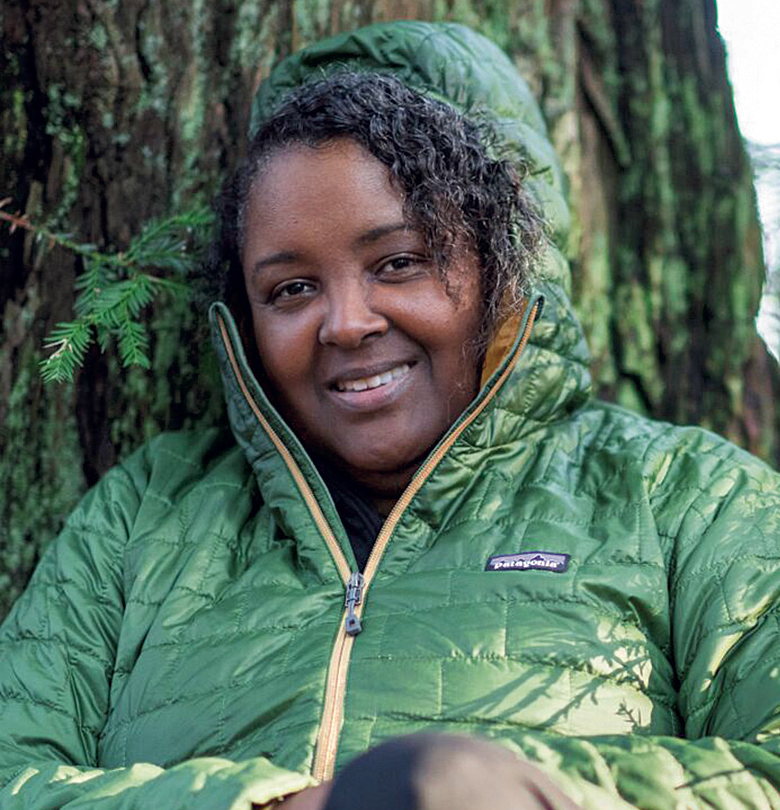 Teresa Baker, founder of the African American Nature and Parks Experience, recounts in Audubon: I talk about equity, diversity and inclusion with such ferocity and consistency—not to divide a country more than it already is, but to bridge a gap that's been in place for far too long. In an article for Alpinist.com, The Changing Faces of the Outdoors, she interviews members of new affinity groups, such as Melanin Base Camp and Natives Outdoors. [Photo] Courtesy of Teresa Baker