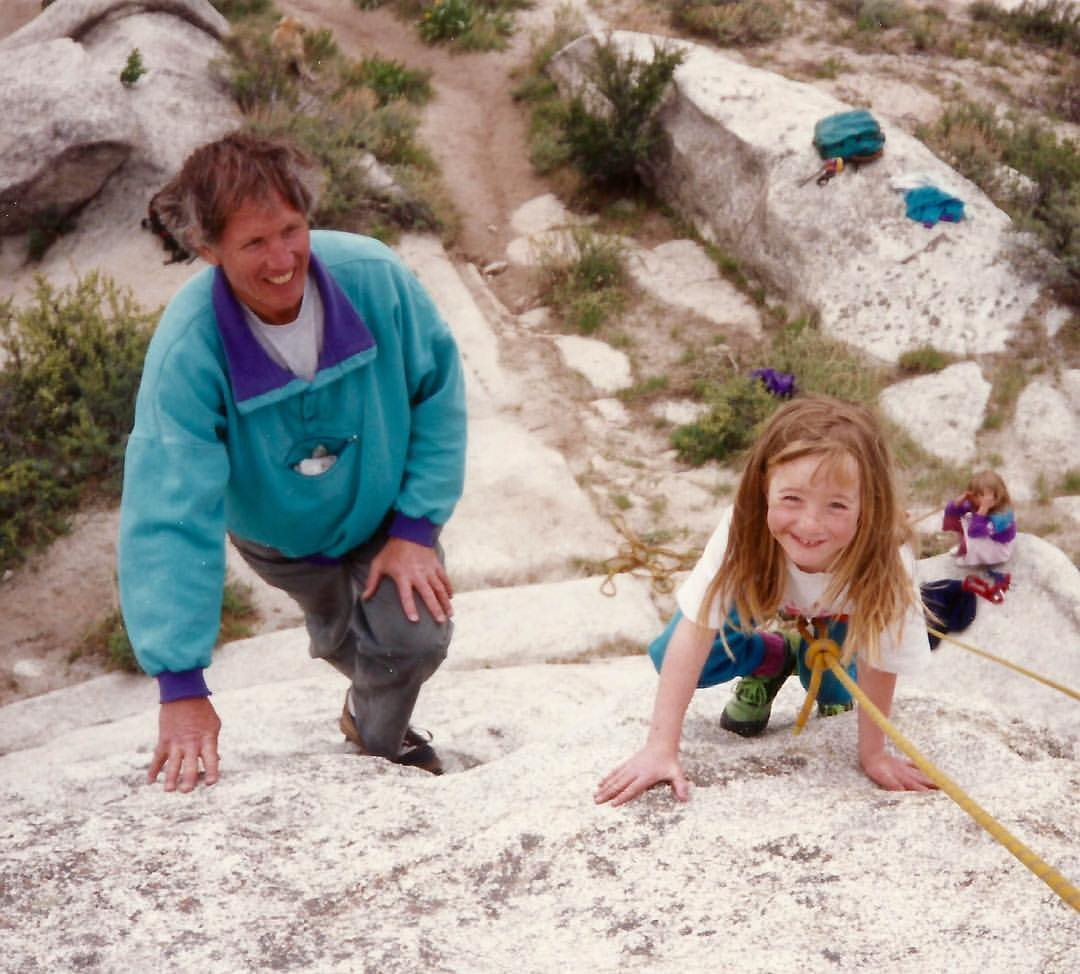 Peter and Alexandra Lev, City of Rocks, 1990. [Photo] Lev family collection