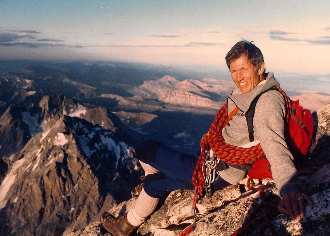 Peter Lev on the Grand Teton, 1983. [Photo] Lev family collection