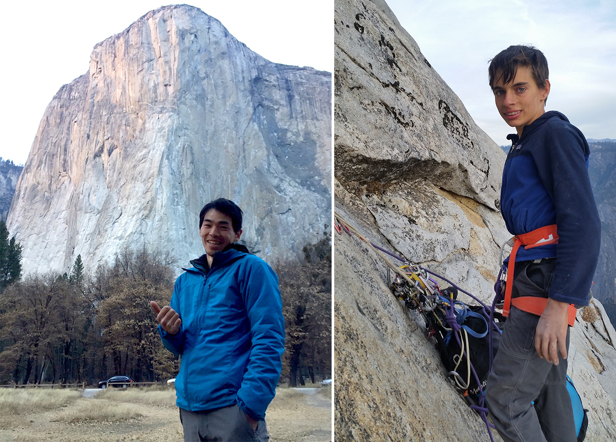 Keita Kurakami (left) and Connor Herson after their respective free ascents of the Nose (VI 5.14a, 2,900') of El Capitan. [Photos] Keita Kurakami collection/Jim Herson