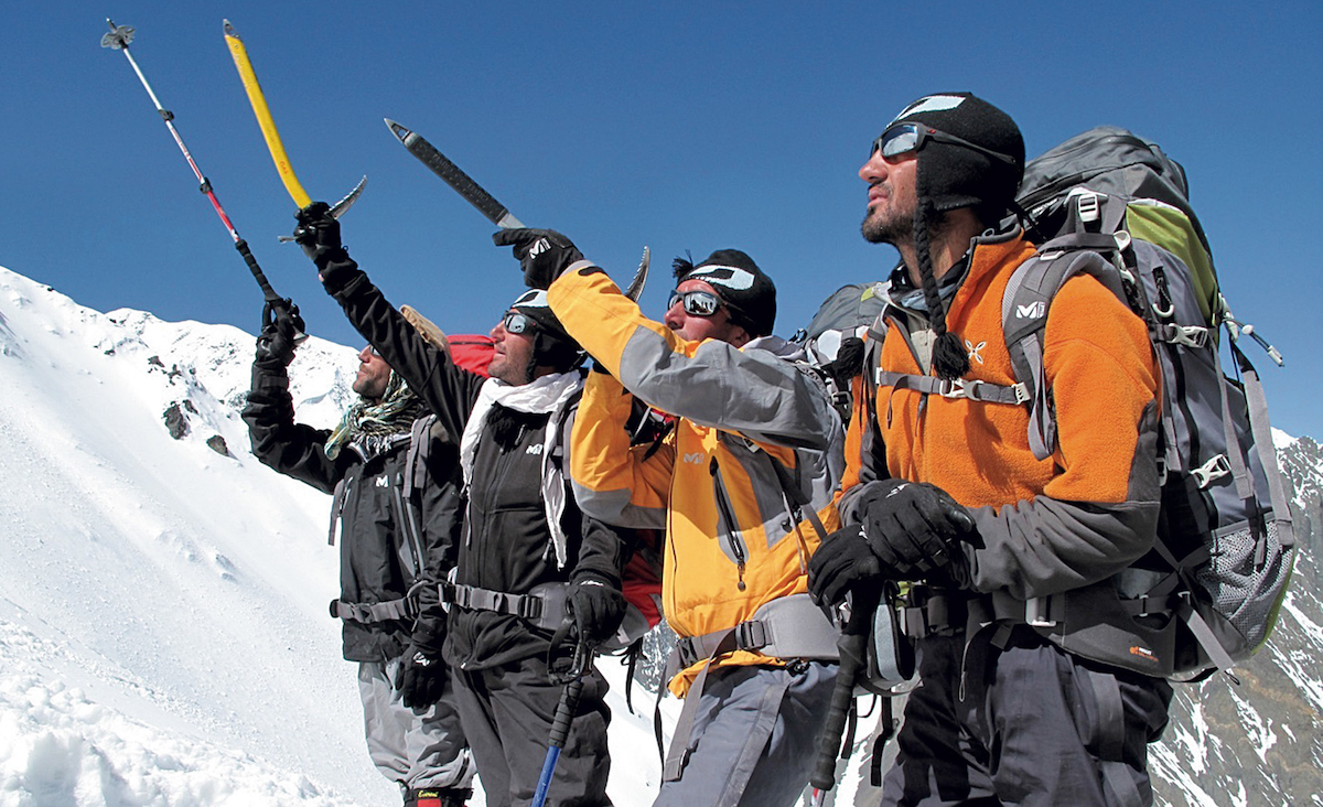 From left to right: Gurg Ali, Afiat Khan, Malang Darya and Amrudin Sanjer at base camp below Noshaq (7492m) during the 2009 Afghans to the Top expedition. [Photo] Louis Meunier