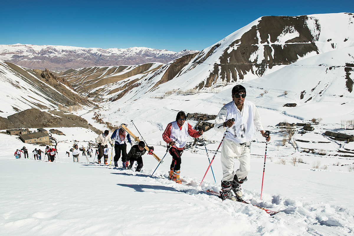 The Afghan Ski Challenge, an annual backcountry ski race organized by the Bamyan Ski Club, draws both local and international athletes to central Afghanistan to compete. Two graduates from the Bamyan Ski Club, Alishah Farhang and Sajjad Hosseini, [were] the first Afghan athletes ever to compete in the Winter Olympics, held in the South Korea this year. The club, funded by donations from skiers in Switzerland, hopes to open the first ski lift ever to operate in the country in 2018. [Photo] Reudi Fluck