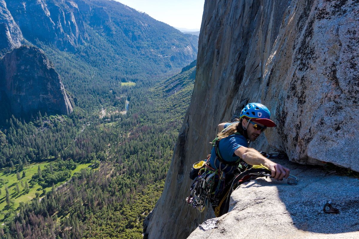 David Allfrey tops out Zodiac on El Capitan at the end of his solo, record-setting ascent June 2, when he finished the route in 10 hours, 52 minutes, 50 seconds. The previous solo record of 11:18 was set by Nick Fowler in 2002. [Photo] Skiy Detray