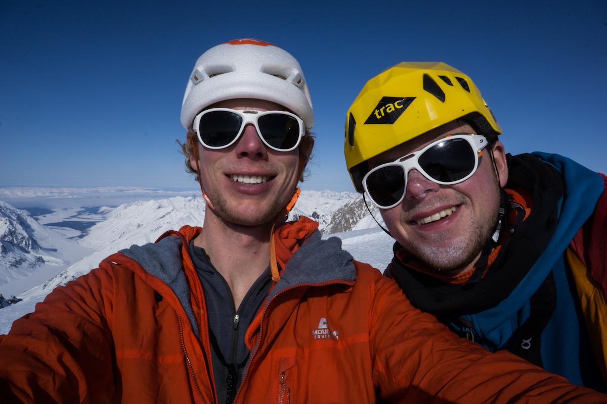 Livingstone, left, and Hawthorn on Jezebel's summit. [Photo] Tom Livingstone