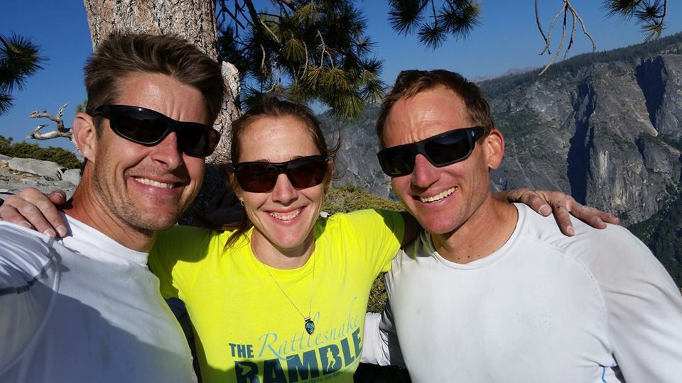 Wells with his wife Becky (center) and Klein on the summit of El Capitan. [Photo] Courtesy of Stefan Griebel
